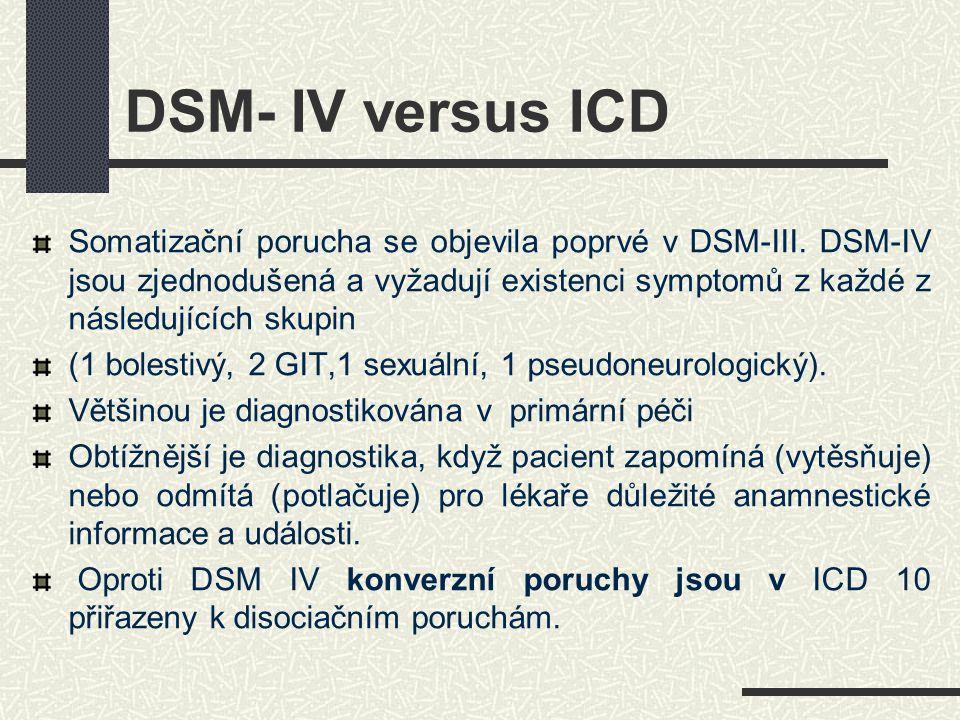 DSM- IV versus ICD