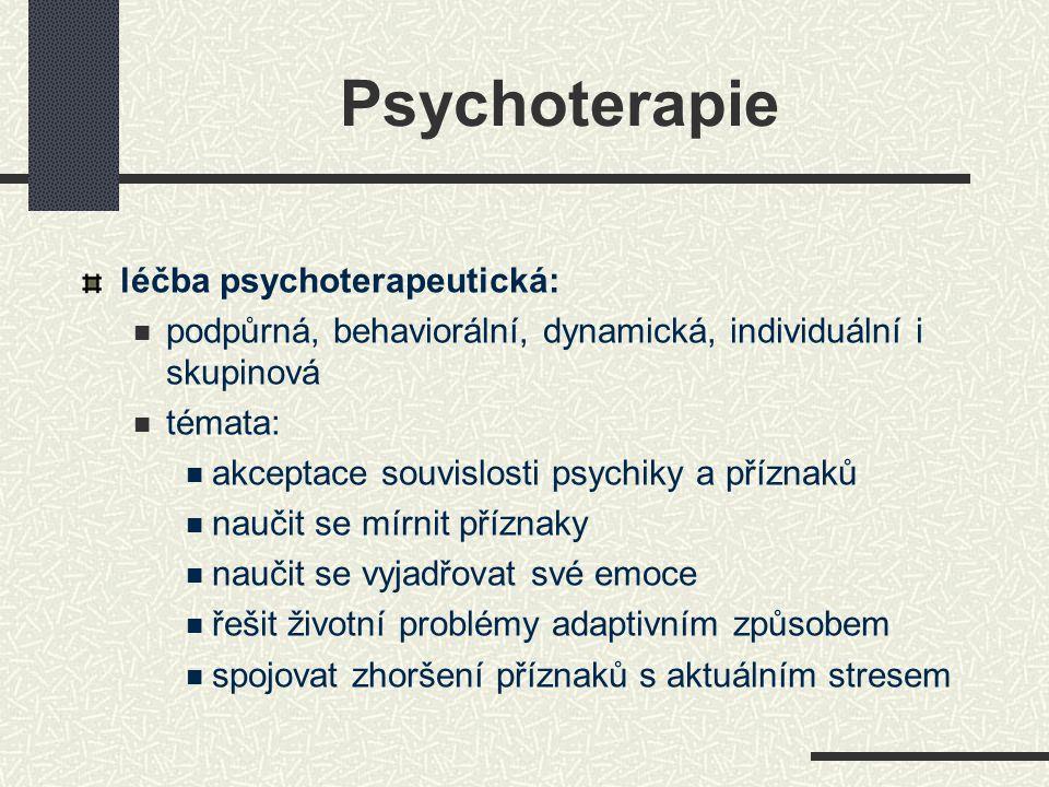 Psychoterapie léčba psychoterapeutická: