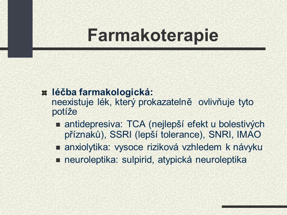 Farmakoterapie léčba farmakologická: