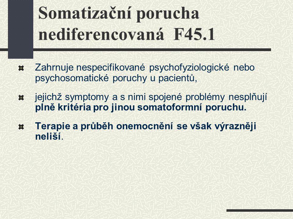 Somatizační porucha nediferencovaná F45.1