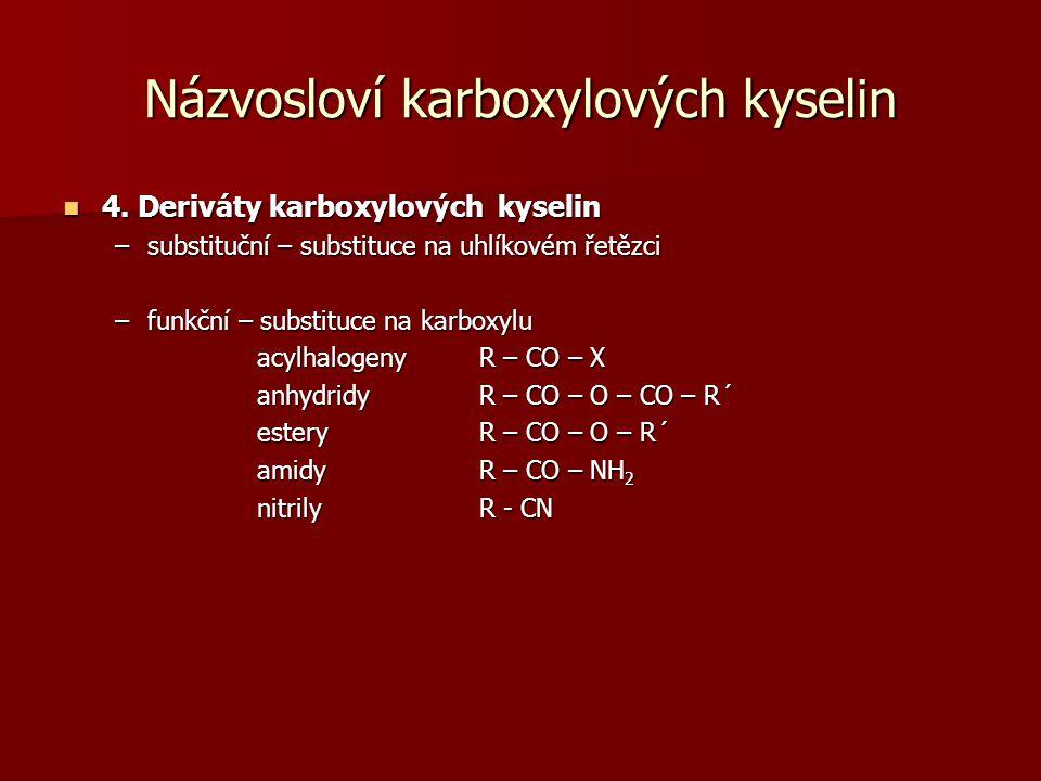 Názvosloví karboxylových kyselin