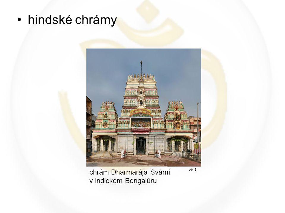 hindské chrámy chrám Dharmarája Svámí v indickém Bengalúru obr 8