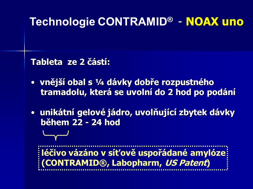 Technologie CONTRAMID® - NOAX uno