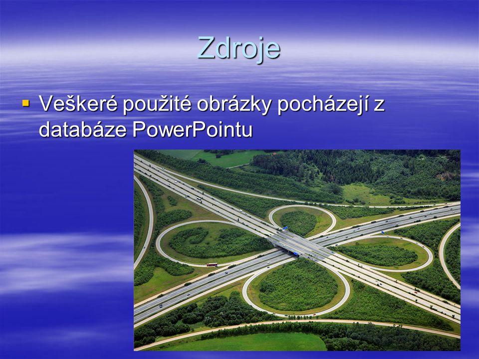 Zdroje Veškeré použité obrázky pocházejí z databáze PowerPointu