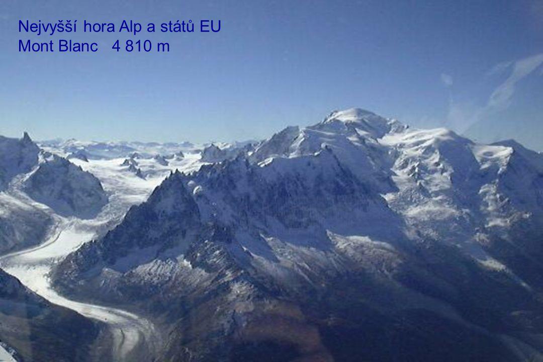 Nejvyšší hora Alp a států EU