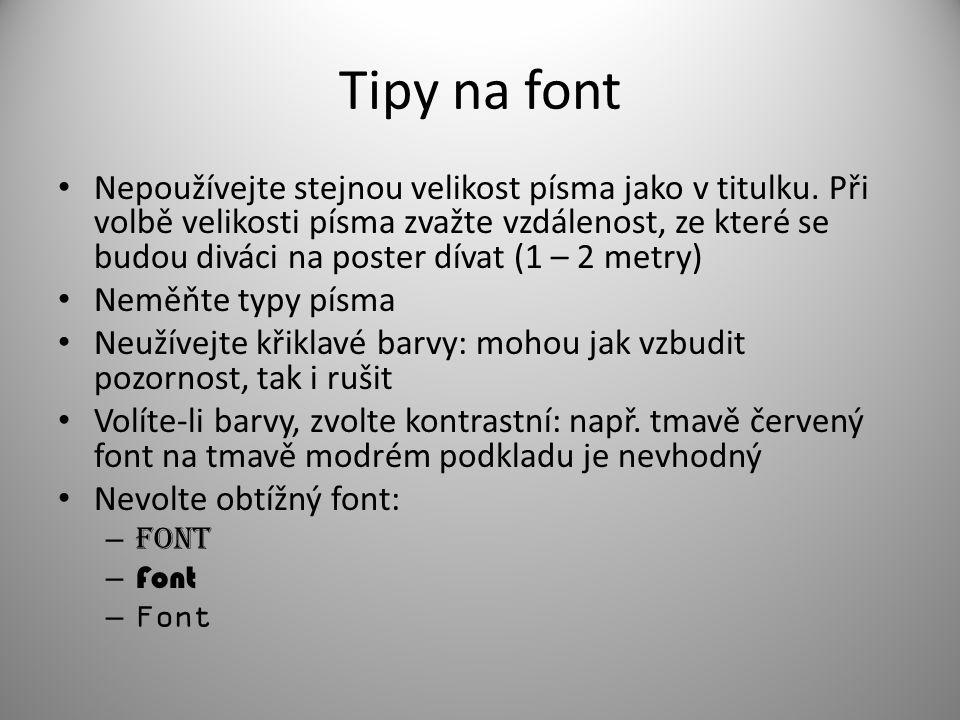 Tipy na font
