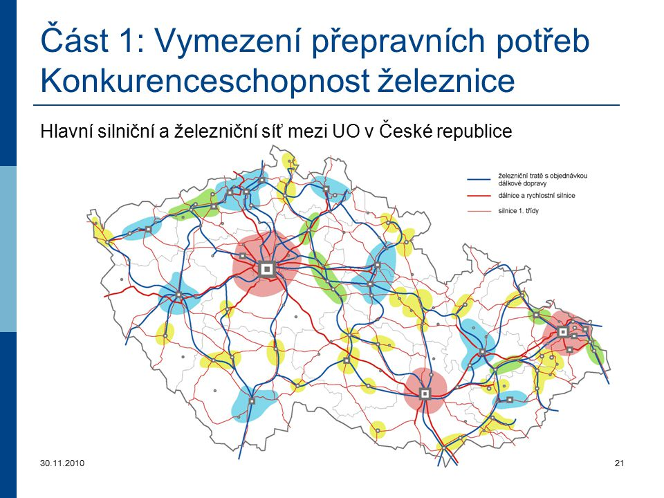 Část 1: Vymezení přepravních potřeb Konkurenceschopnost železnice