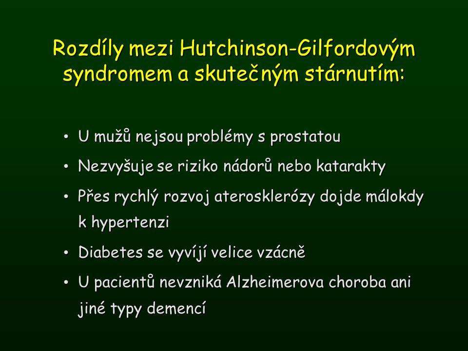 Rozdíly mezi Hutchinson-Gilfordovým syndromem a skutečným stárnutím: