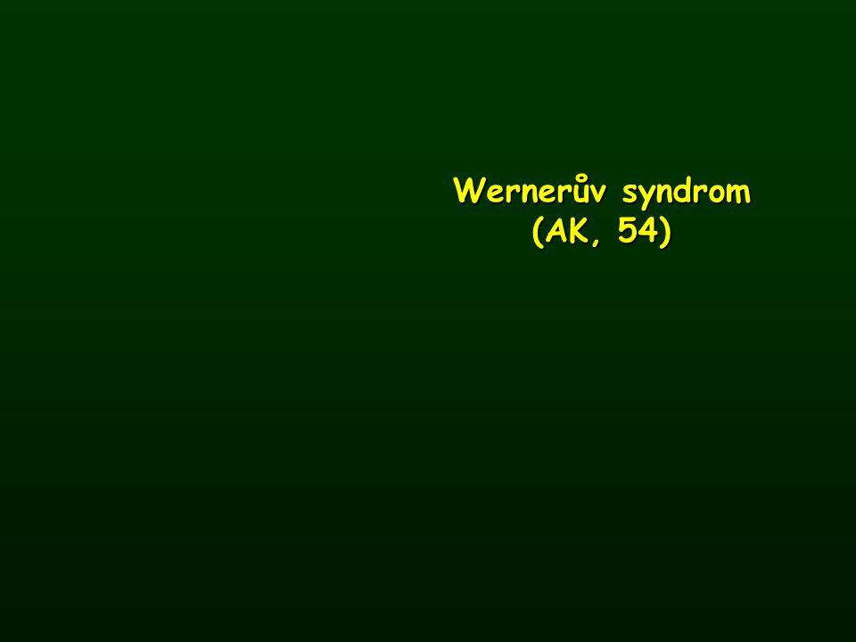 Wernerův syndrom (AK, 54)