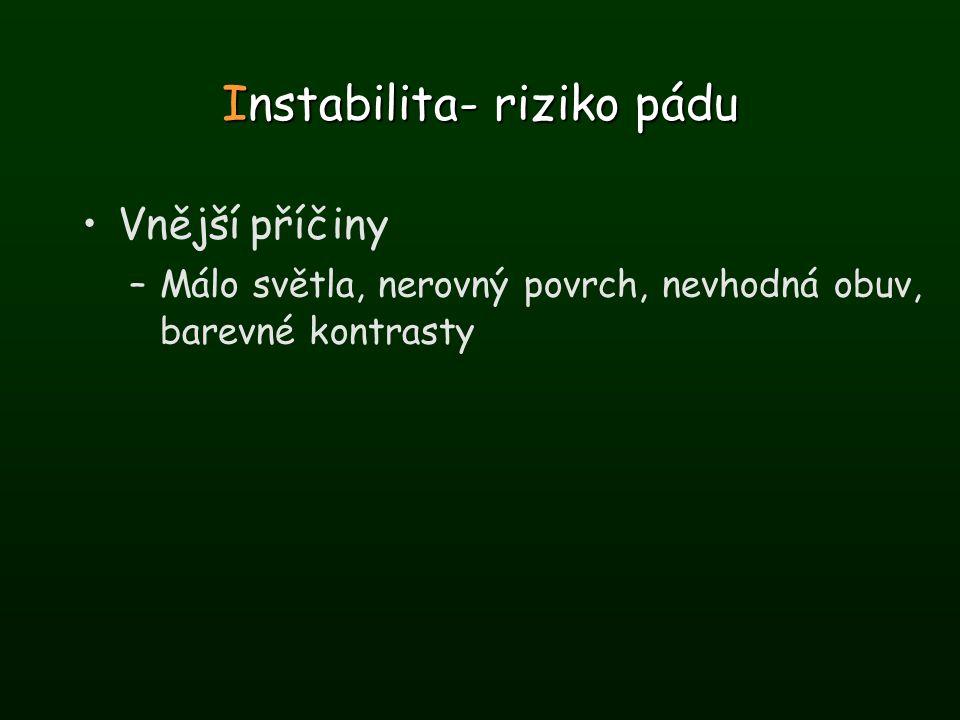 Instabilita- riziko pádu