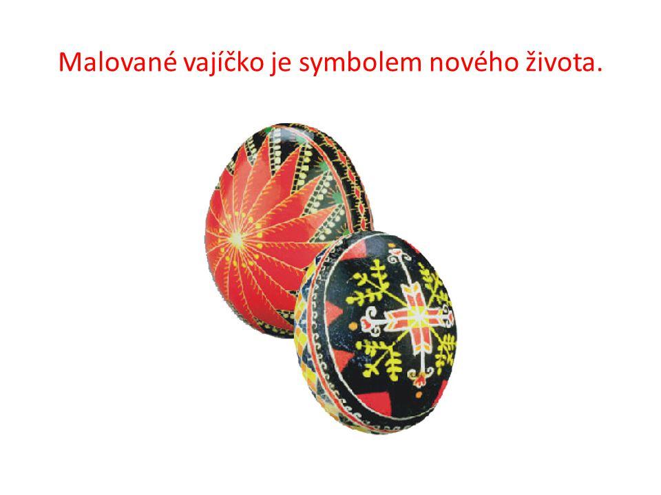 Malované vajíčko je symbolem nového života.