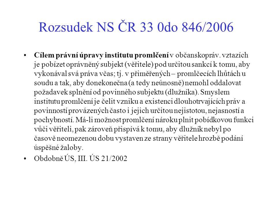 Rozsudek NS ČR 33 0do 846/2006