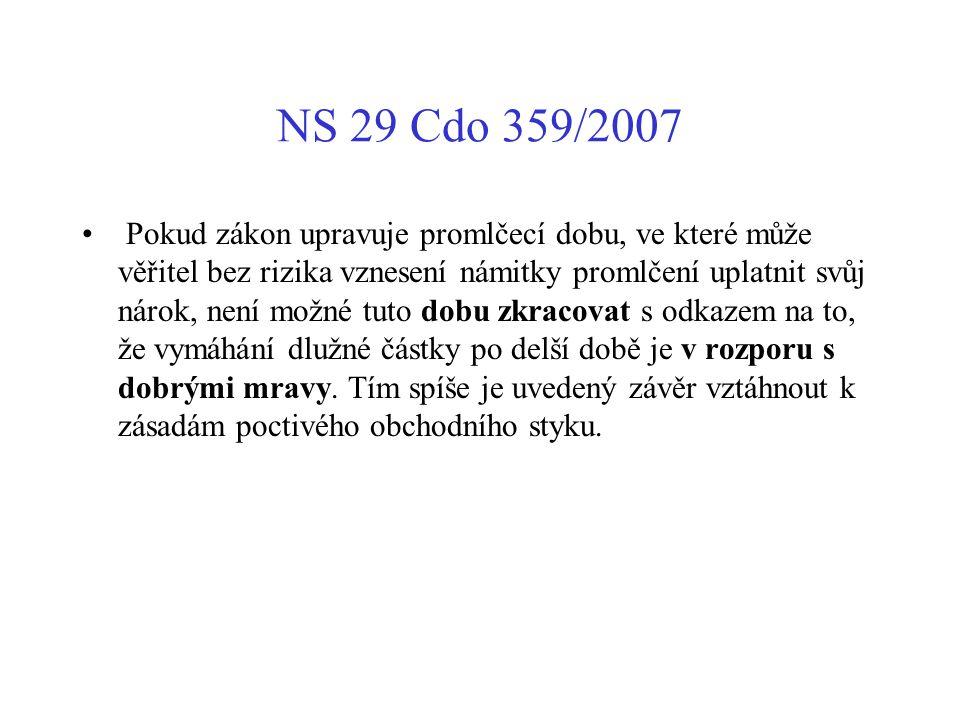 NS 29 Cdo 359/2007