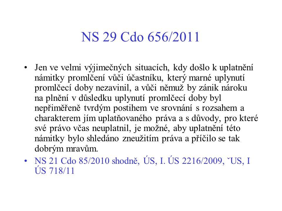 NS 29 Cdo 656/2011