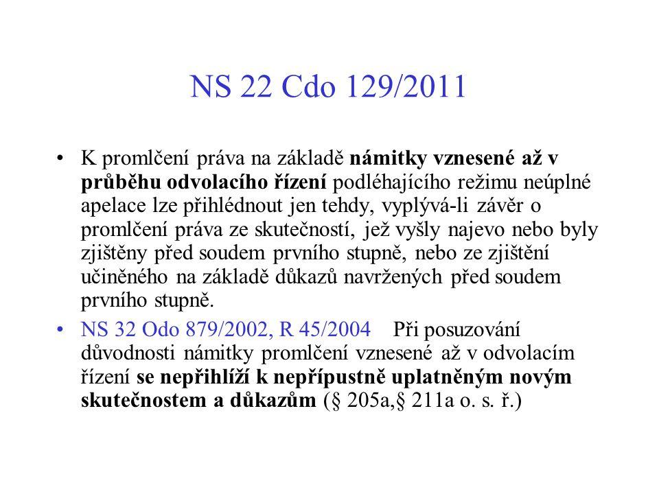 NS 22 Cdo 129/2011