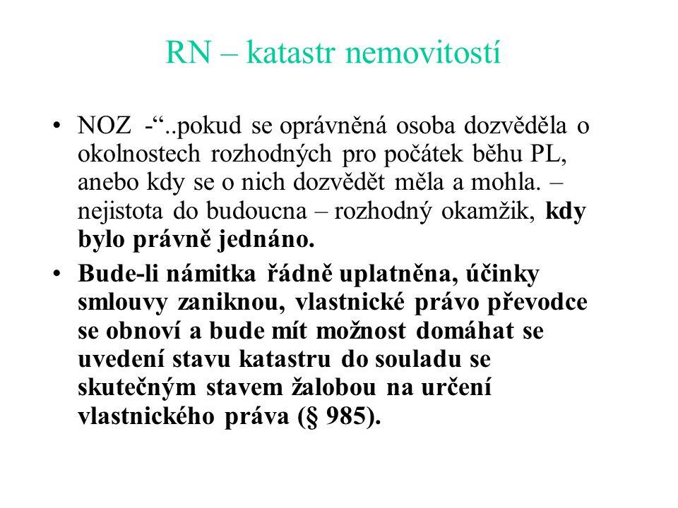 RN – katastr nemovitostí