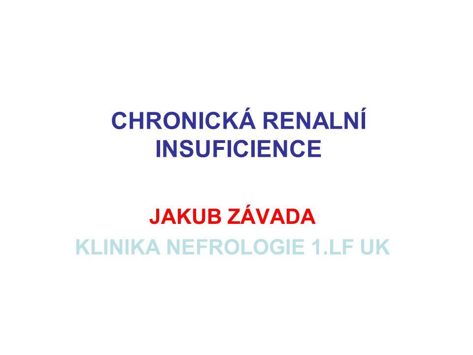 CHRONICKÁ RENALNÍ INSUFICIENCE