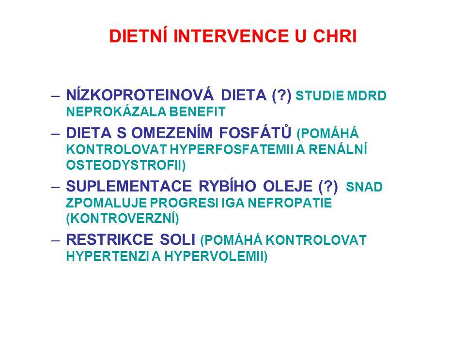 DIETNÍ INTERVENCE U CHRI