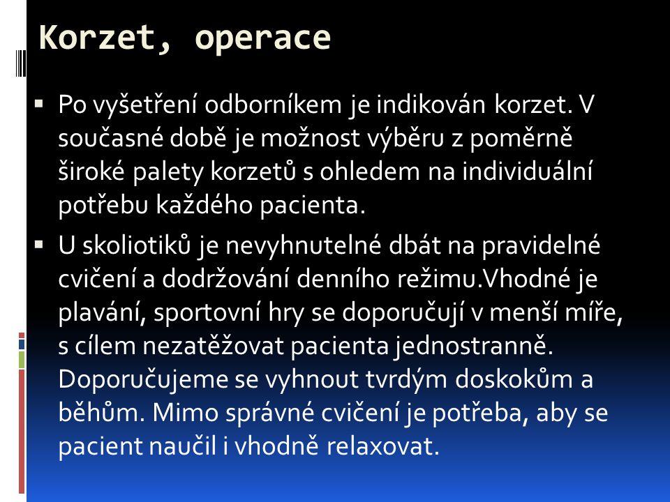 Korzet, operace