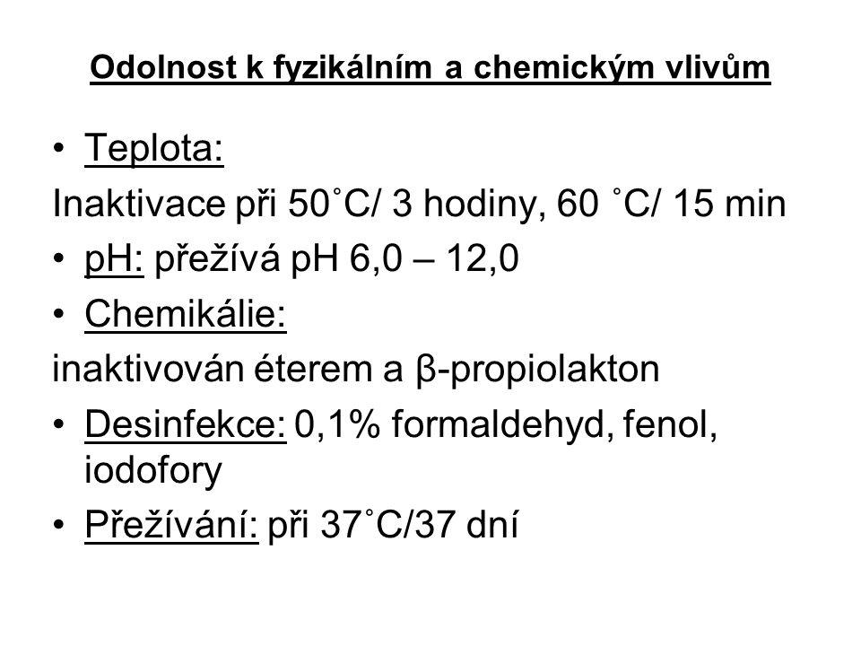 Odolnost k fyzikálním a chemickým vlivům