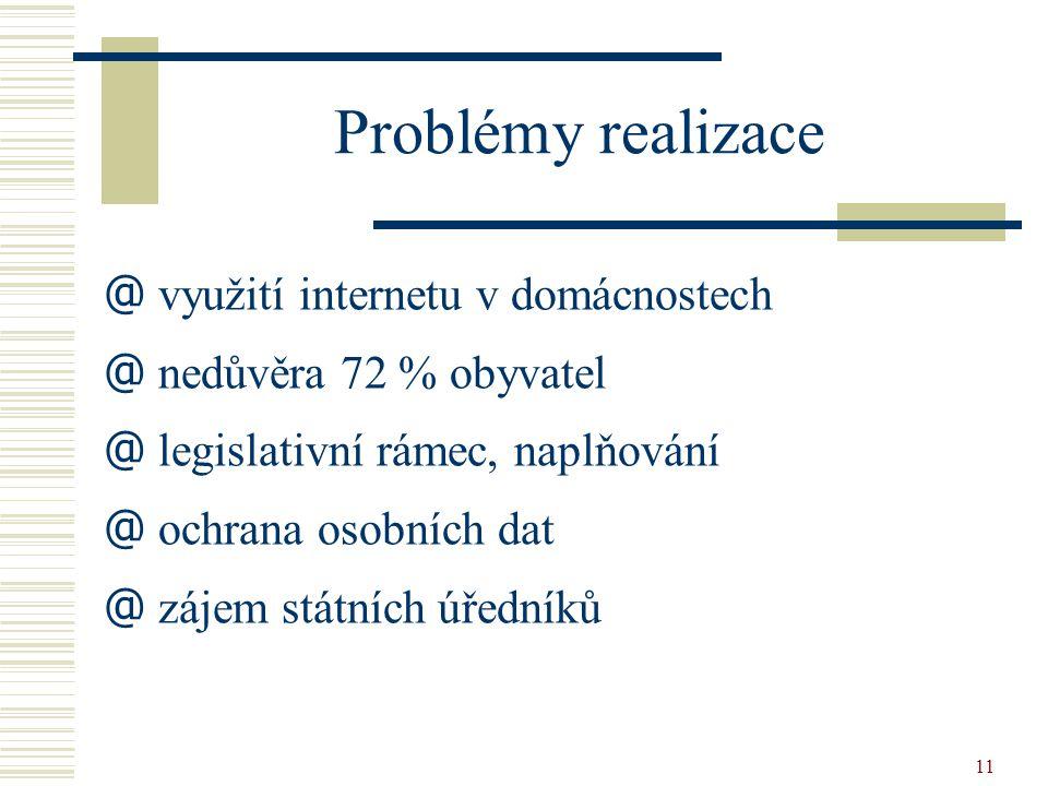 Problémy realizace využití internetu v domácnostech