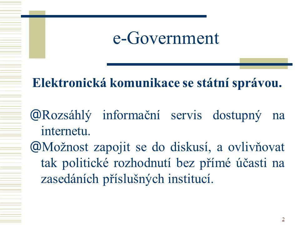 Elektronická komunikace se státní správou.