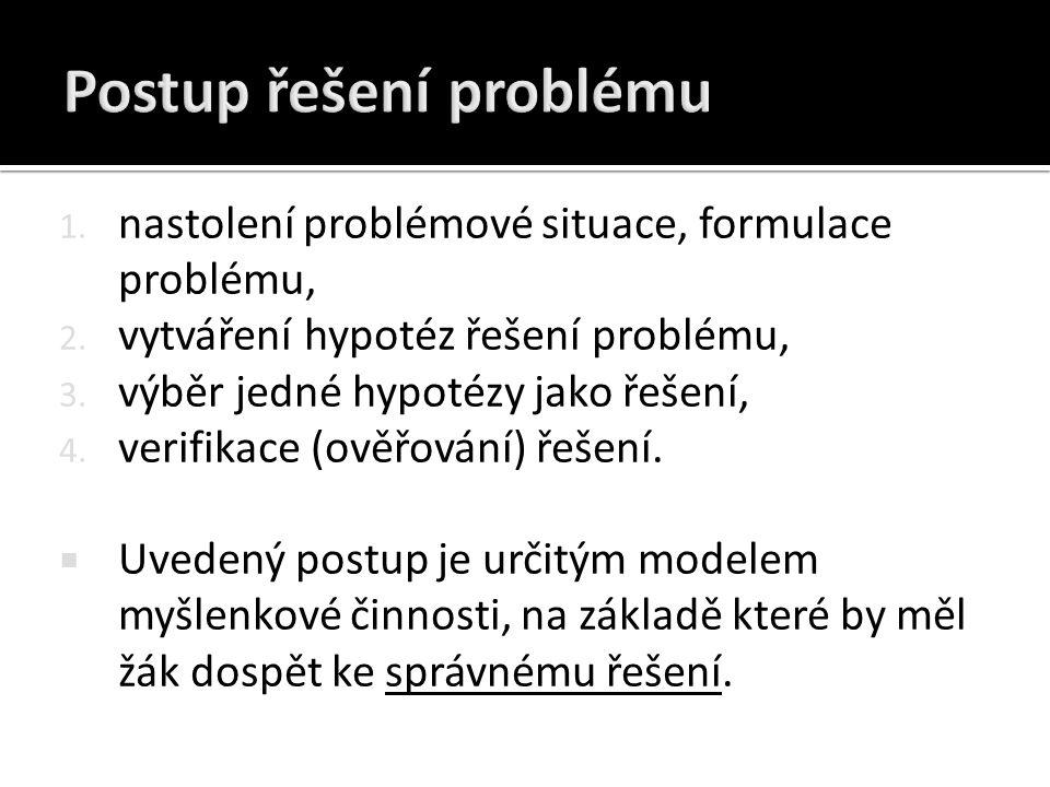 Postup řešení problému