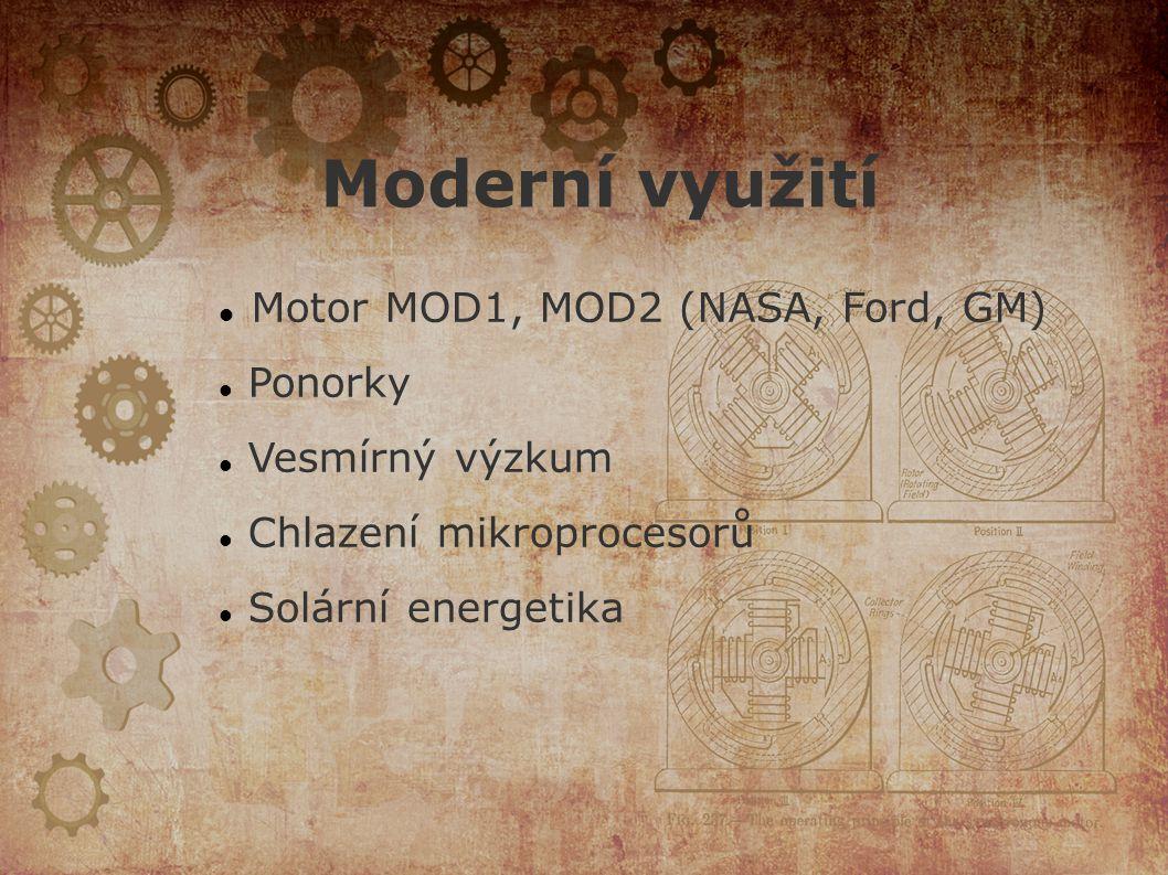 Moderní využití Motor MOD1, MOD2 (NASA, Ford, GM) Ponorky