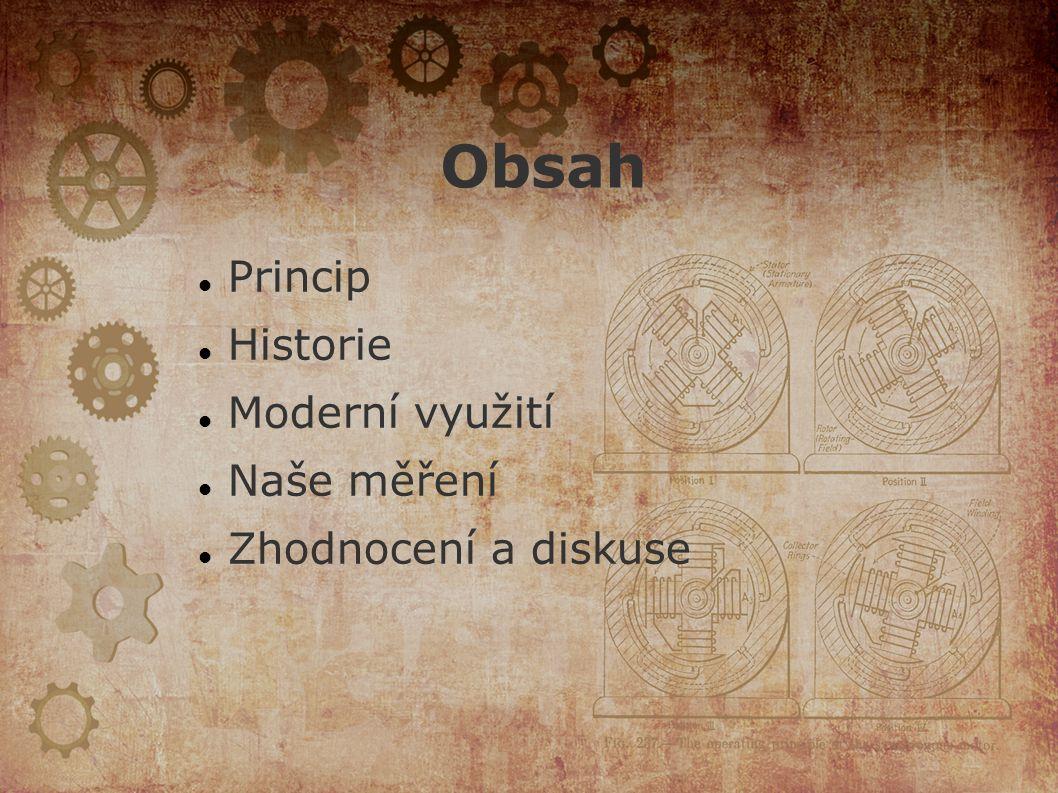 Obsah Princip Historie Moderní využití Naše měření