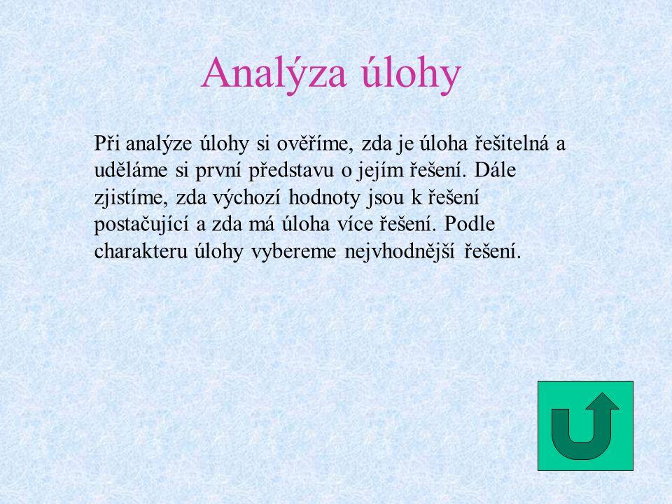 Analýza úlohy