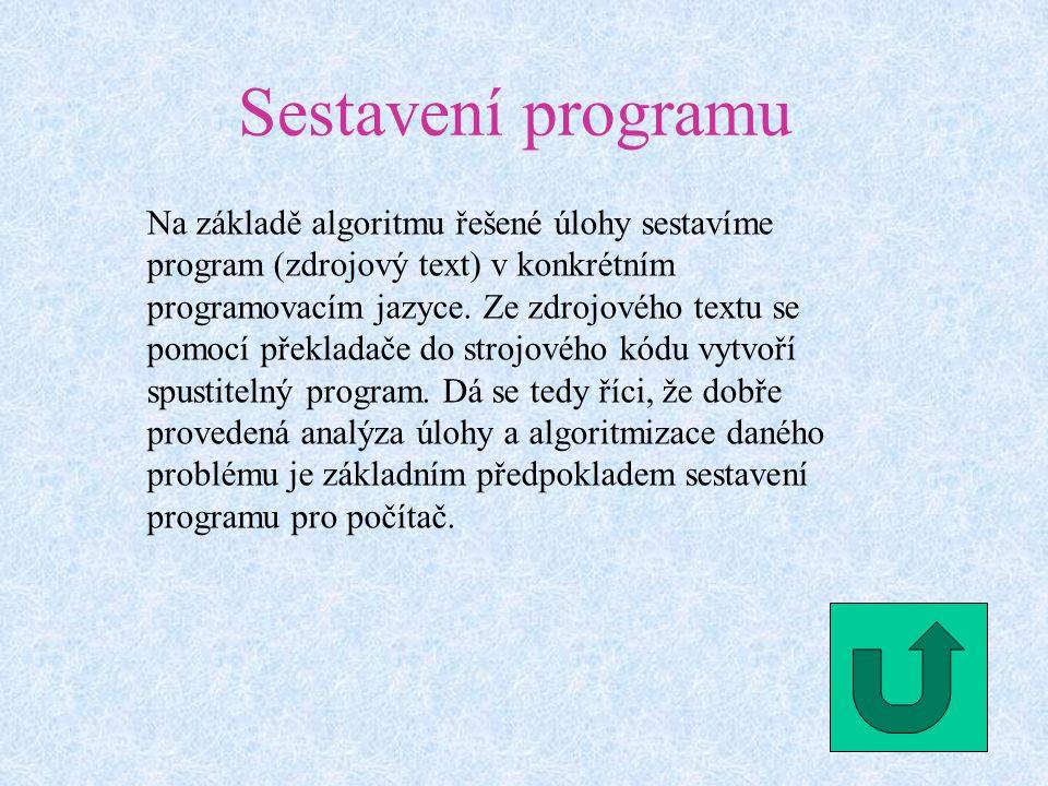 Sestavení programu