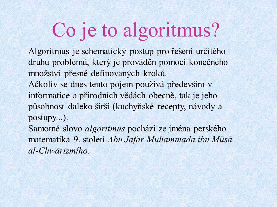 Co je to algoritmus