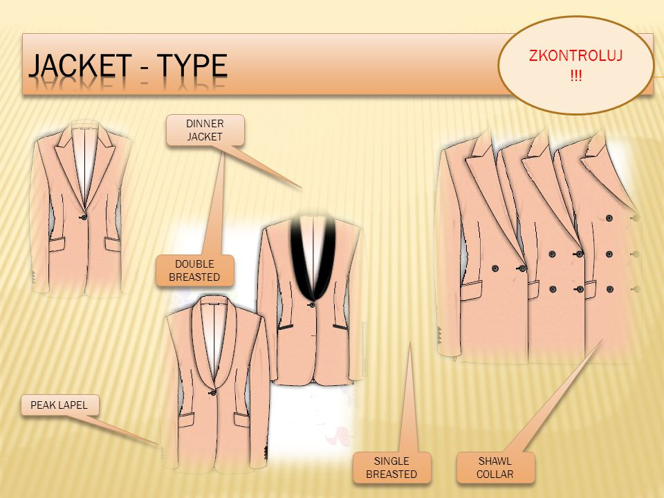 JACKET - TYPE ZKONTROLUJ !!! DINNER JACKET DOUBLE BREASTED PEAK LAPEL