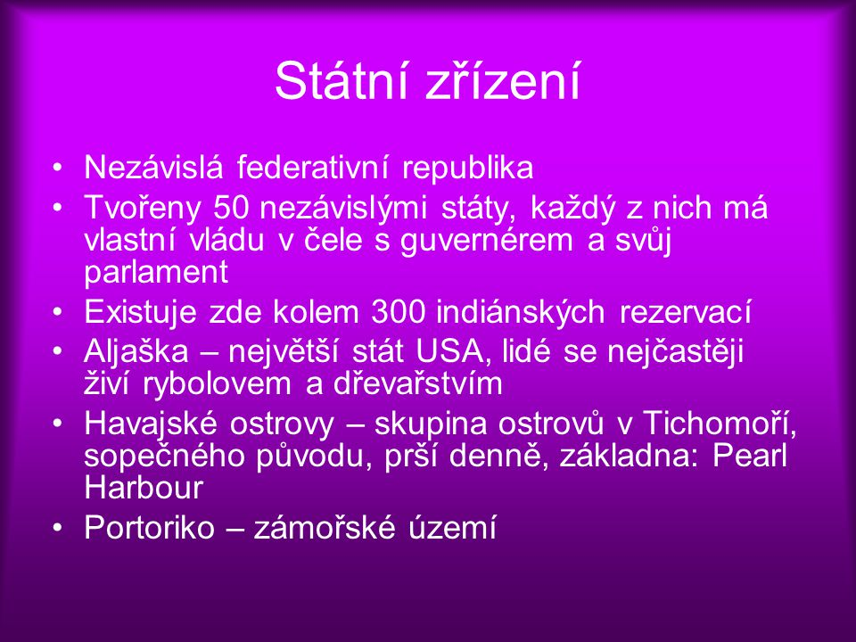 Státní zřízení Nezávislá federativní republika