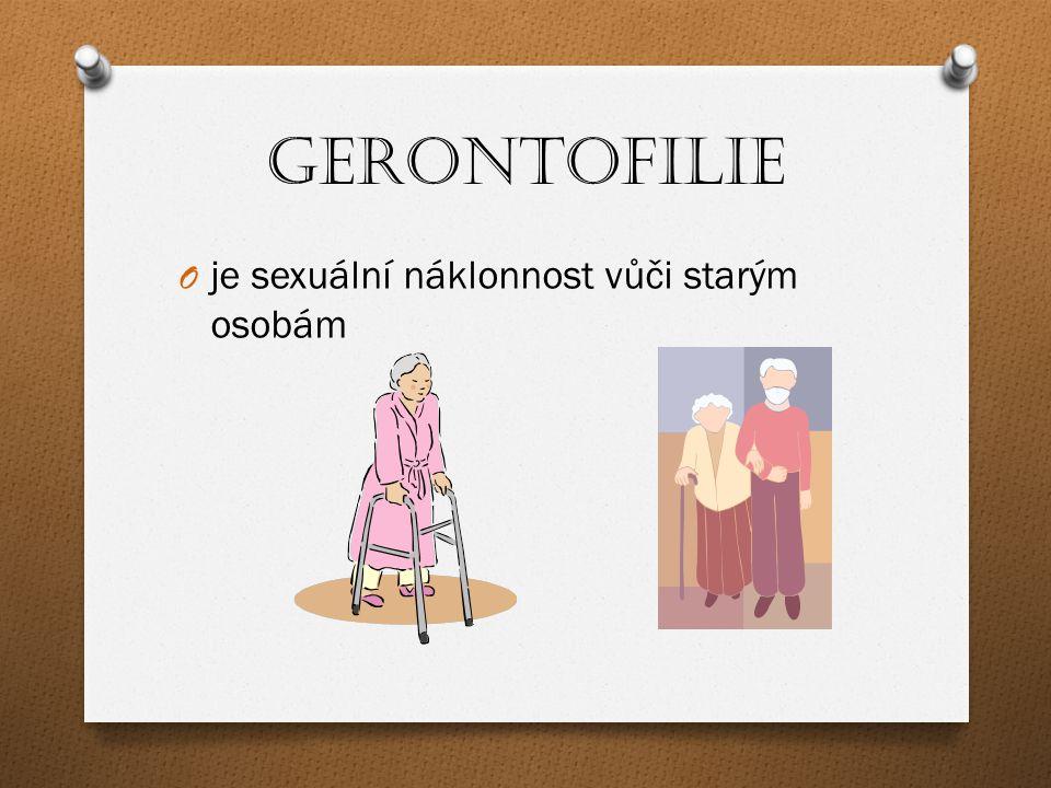 Gerontofilie je sexuální náklonnost vůči starým osobám