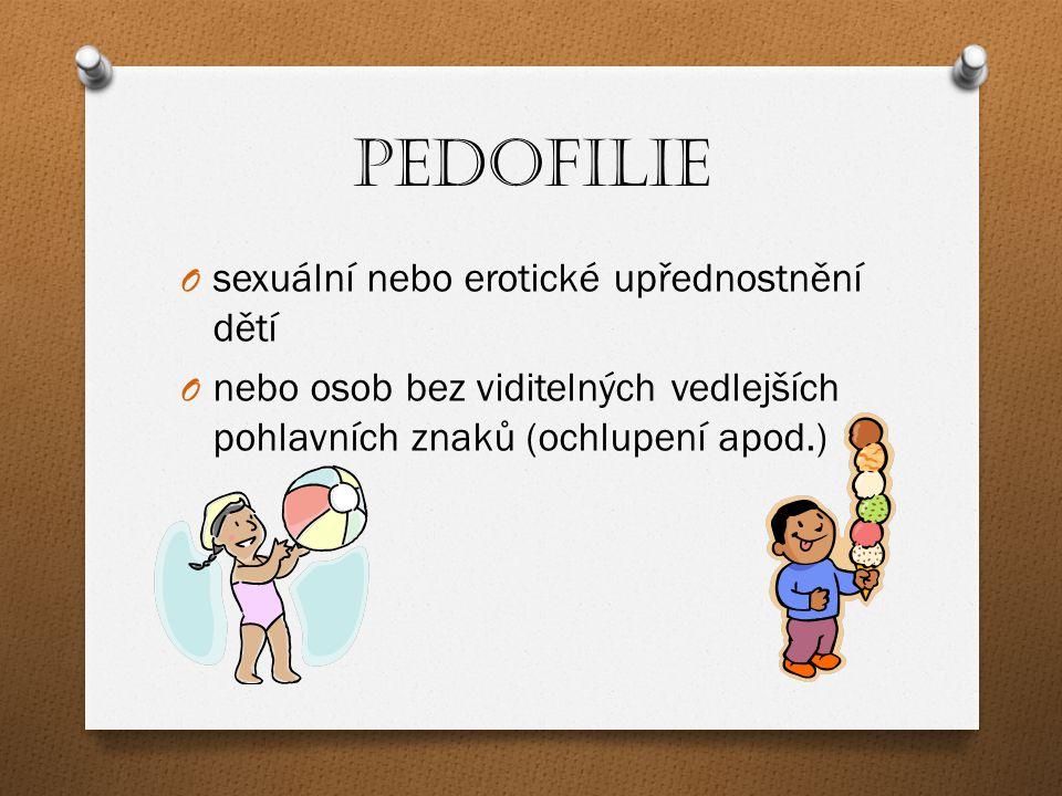 Pedofilie sexuální nebo erotické upřednostnění dětí