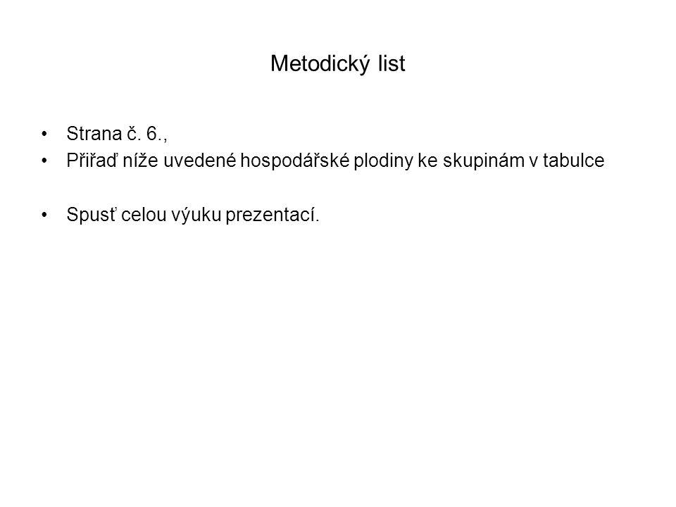 Metodický list Strana č. 6.,