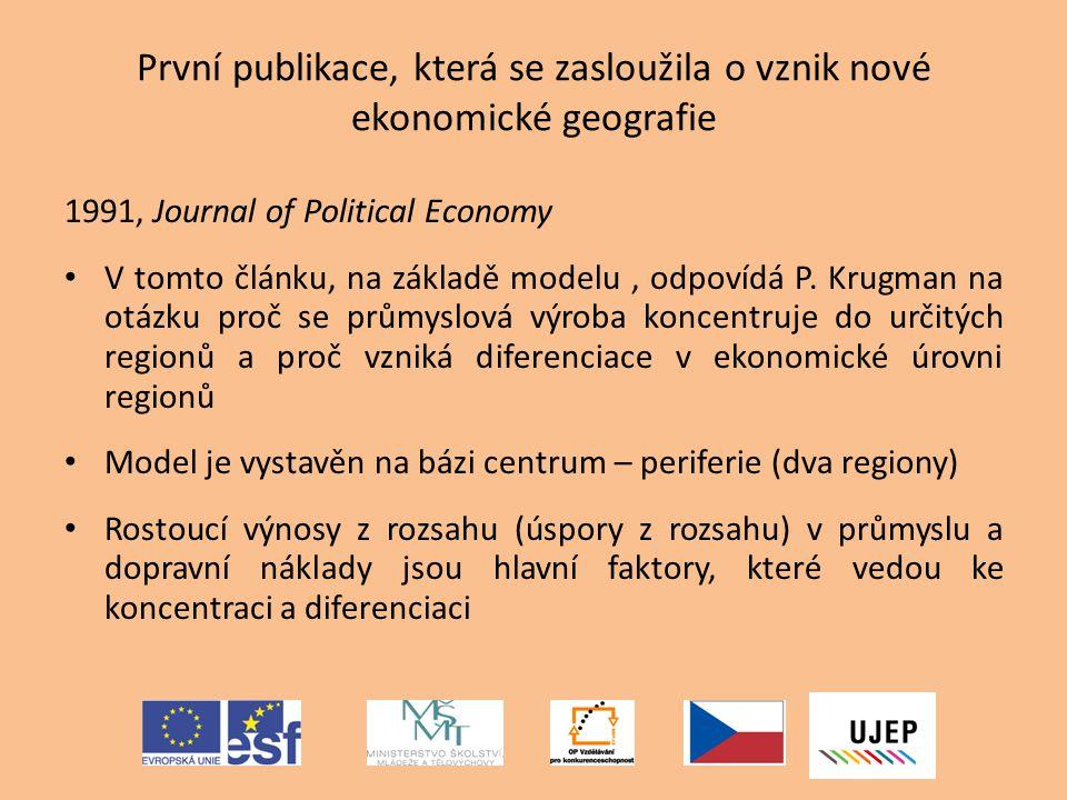 První publikace, která se zasloužila o vznik nové ekonomické geografie