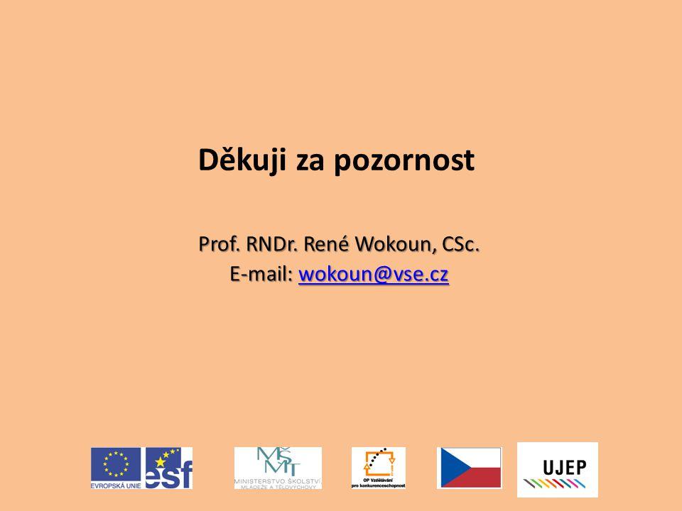 Prof. RNDr. René Wokoun, CSc. E-mail: wokoun@vse.cz