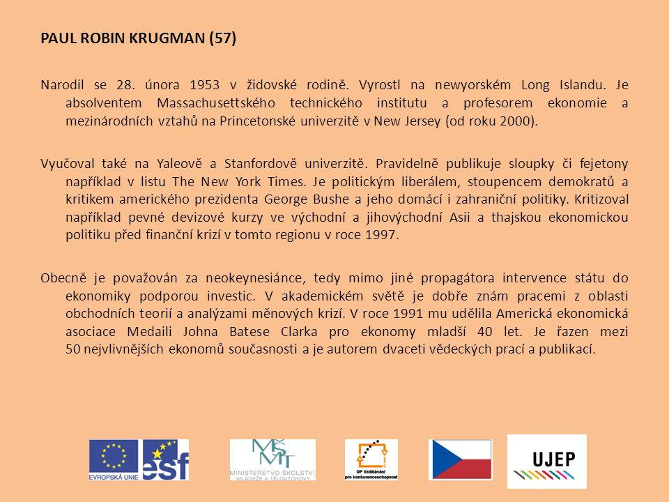 PAUL ROBIN KRUGMAN (57)