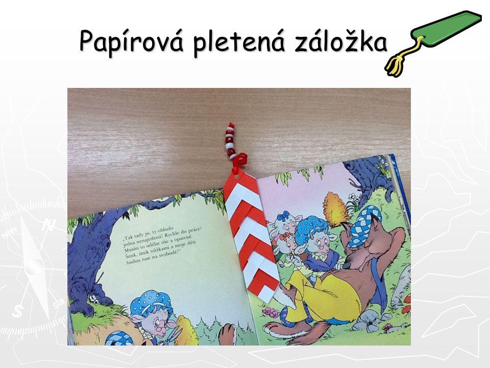Papírová pletená záložka