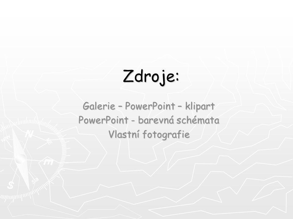 Zdroje: Galerie – PowerPoint – klipart PowerPoint - barevná schémata