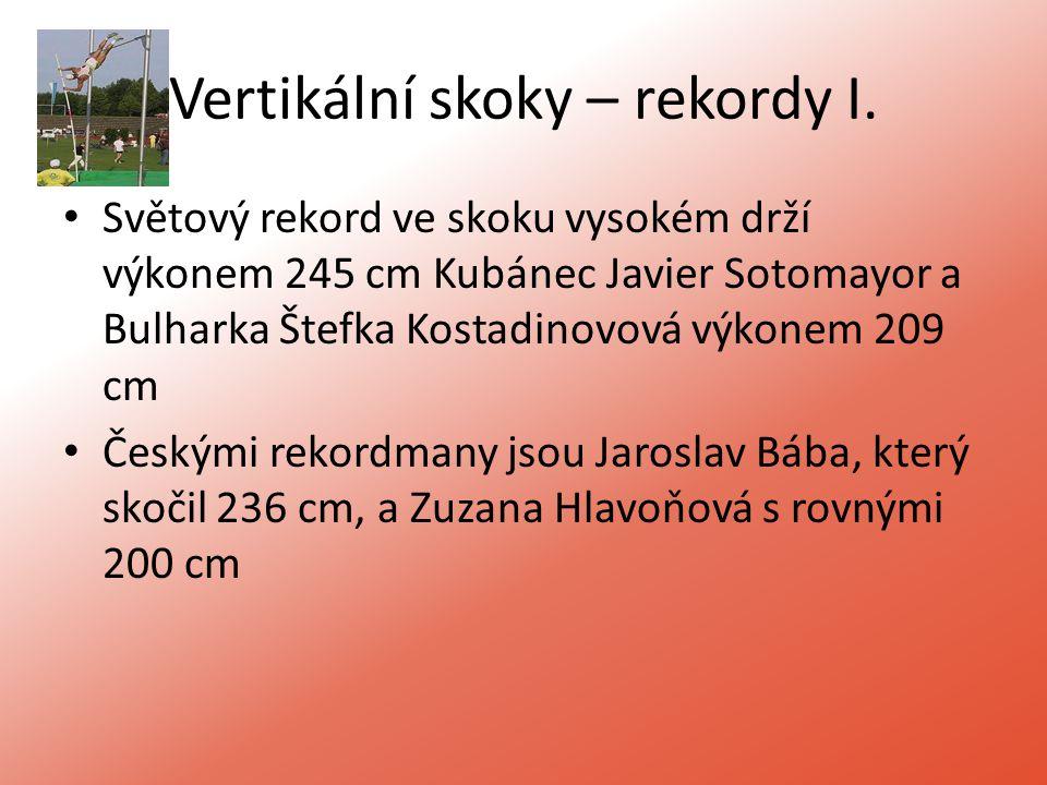Vertikální skoky – rekordy I.