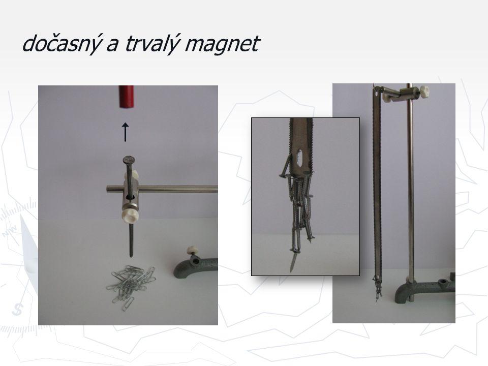 dočasný a trvalý magnet
