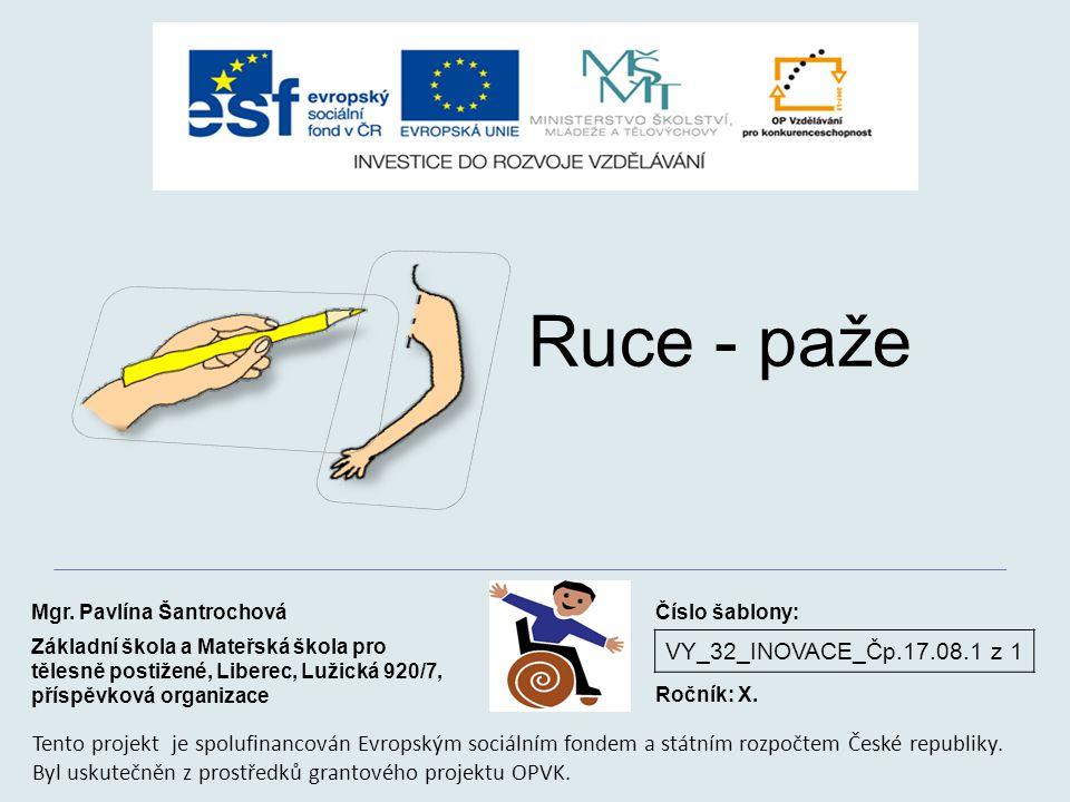 Ruce - paže VY_32_INOVACE_Čp.17.08.1 z 1