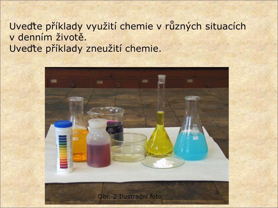 Uveďte příklady využití chemie v různých situacích v denním životě.