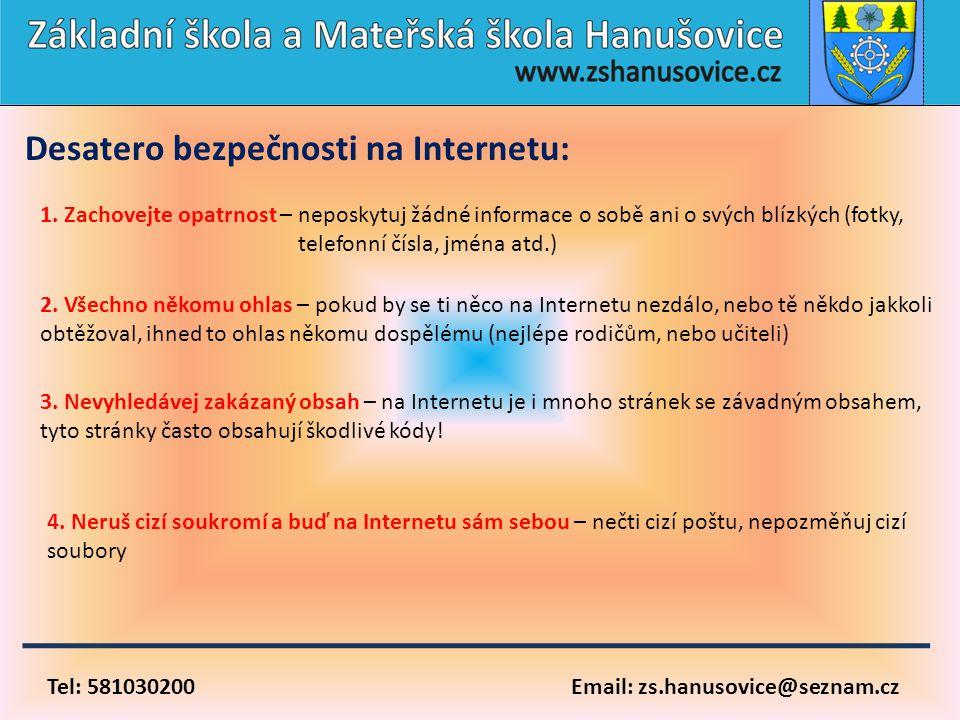 Desatero bezpečnosti na Internetu: