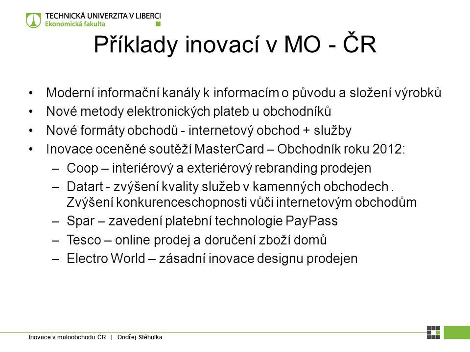 Příklady inovací v MO - ČR