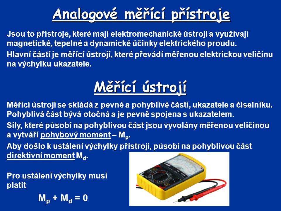 Analogové měřící přístroje