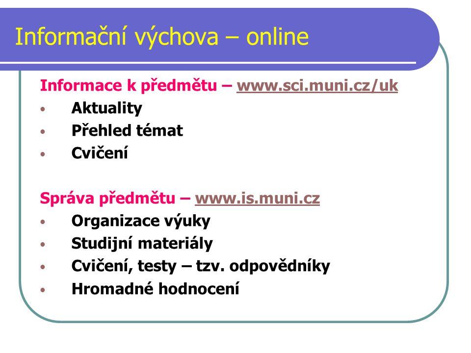 Informační výchova – online